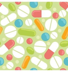 Pills seamless pattern background vector image