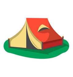 red camping tent icon isolated vector image vector image