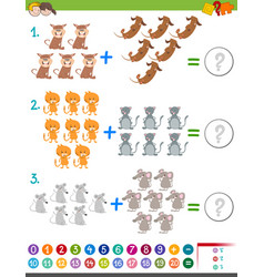 addition maths activity for kids vector image