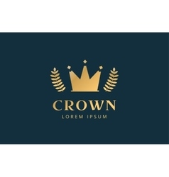 Crown abstract logo template vector image