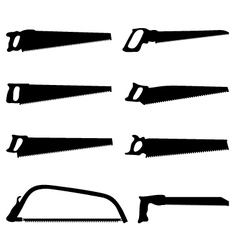 hand saw vector image vector image