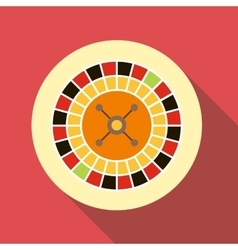 Casino roulette icon flat style vector image vector image