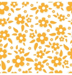 Cute seamless background with flowers vector image vector image