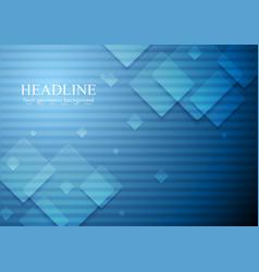 Hi-tech geometric dark blue background vector image