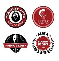 MMA Labels - Mixed Martial Arts Design vector image vector image
