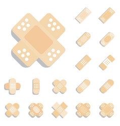 plaster or band aid icon medical patch symbol vector image vector image