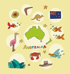 set of national profile of the australia vector image vector image