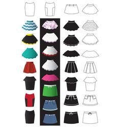 skirt fashion icons vector image