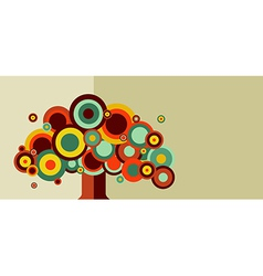 Vintage colorful tree vector image vector image