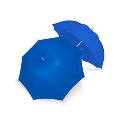 3d realistic render blue blank umbrella vector