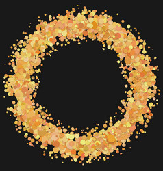 Abstract blank dispersed confetti circle vector