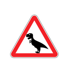 Attention dinosaur sign warning of dangerous vector