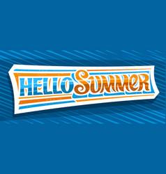 Banner hello summer vector