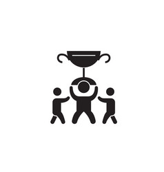 big business trophy black concept icon big vector image