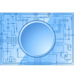 blue microchip vector image