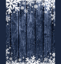 Blue wooden christmas background with blurred vector