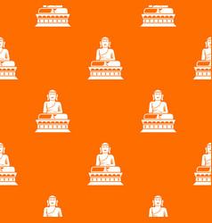buddha statue pattern seamless vector image