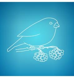Bullfinch on a Blue Background vector