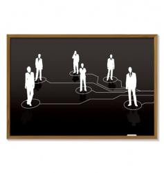 business blackboard vector image