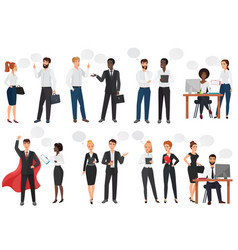 Businessmen office people discussion talkking vector
