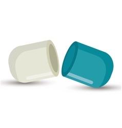 Capsule medicine open design vector