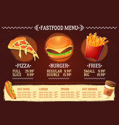 cartoon of a design fast food vector image