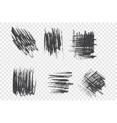 charcoal pencil scrawl set vector image