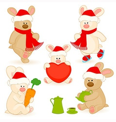 Christmas bear vector image