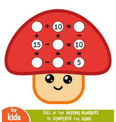 counting game for children educational vector image