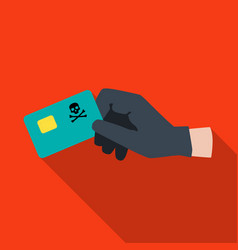 Credit card fraud icon in flat style isolated on vector