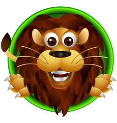 cute lion head cartoon vector image
