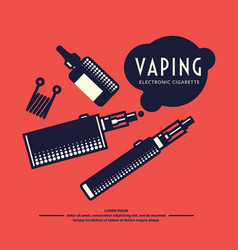 drawing and poster of electronic cigarette vector image