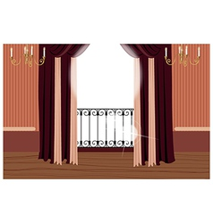 Elegant Balcony Interior vector