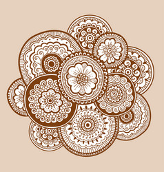 ethnic henna mehndi ornament indian style vector image