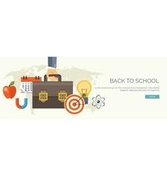 Flat study header education vector