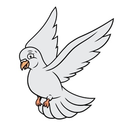 Flying white dove vector