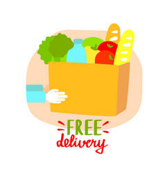 free delivery flat vector image