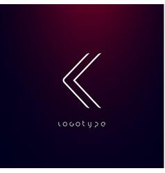 Futurism style letter k minimalist type vector