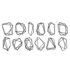 geometric frames polyhedrons luxury decorative vector image