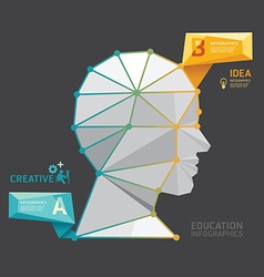 Geometric Modern Design head style infographic vector