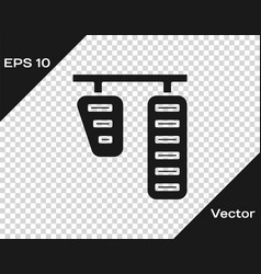 Grey car gas and brake pedals icon isolated on vector