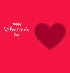 happy valentines day cut out of paper style heart vector image