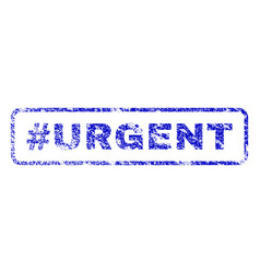 Hashtag urgent rubber stamp vector