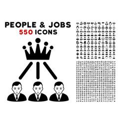 hierarchy men icon with bonus vector image
