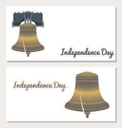 Independence day of the usa liberty bell flyers vector