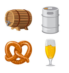 isolated object of pub and bar sign collection of vector image