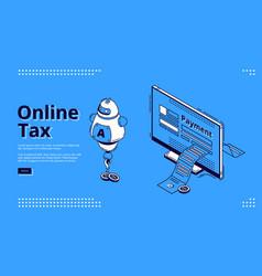 landing page online tax smart digital payment vector image