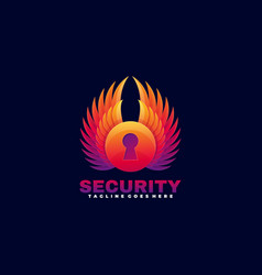 logo time security gradient colorful style vector image