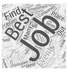 Make the best out of job fairs dlvy nicheblowercom vector