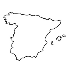 Map of Spain icon outline style vector image